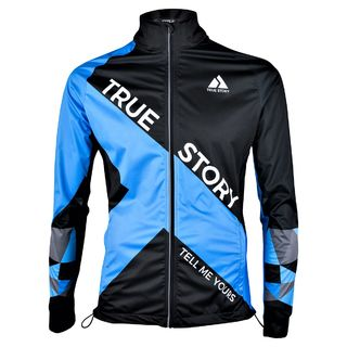 True Story 01| WindShield training jacket Tummansininen edestä